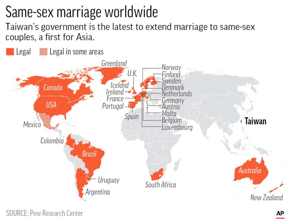 anti same sex marriage countries in the world in Or