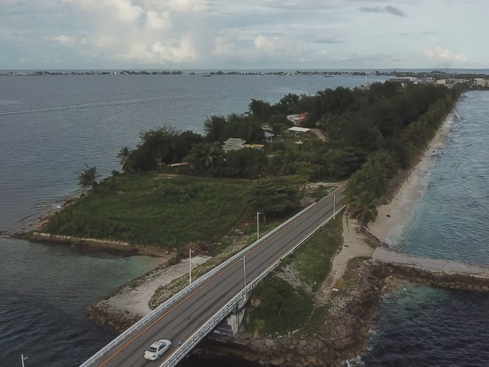 PHOTO: The Marshall Islands capital city of Majuro is only 300 feet wide in most places.