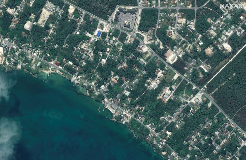 PHOTO: Before Hurricane Dorian strck northwestern Marsh Harbour on Great Abaco Island, Bahamas, in a satellite image taken Oct. 25, 2018.