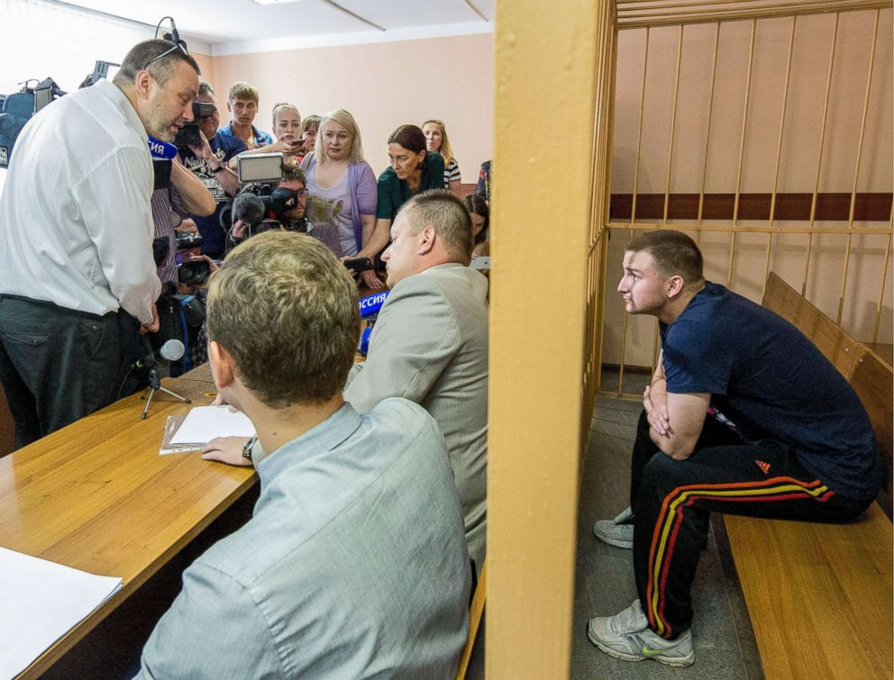PHOTO: Maxim Yablokov, a senior correctional officer at No1 Yaroslavl Correctional Facility, attends a hearing at Yaroslavls Zavolzhsky District Court into an application for a warrant to arrest him, July 25, 2018, in Yaroslavl, Russia.