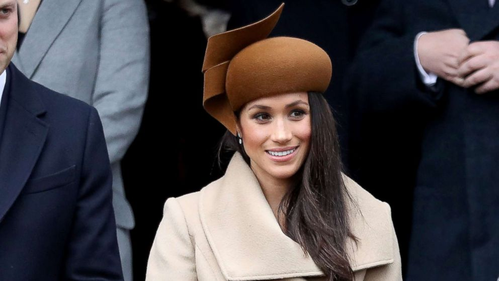 Meghan Markle attends Christmas Day Church service at Church of St Mary Magdalene, Dec. 25, 2017, in King's Lynn, England.