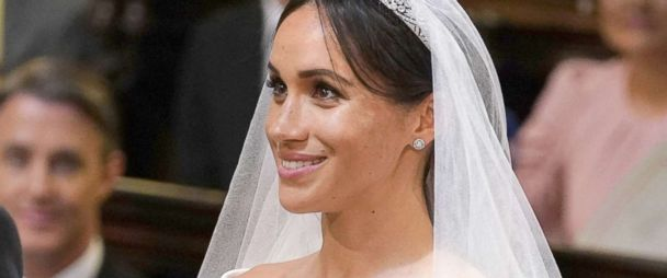 Image result for meghan harry wedding look