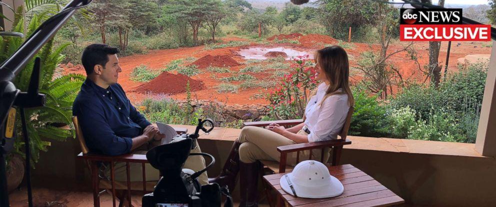 9da40fb4907 PHOTO  First lady Melania Trump gives an interview to ABC News Tom Llamas.