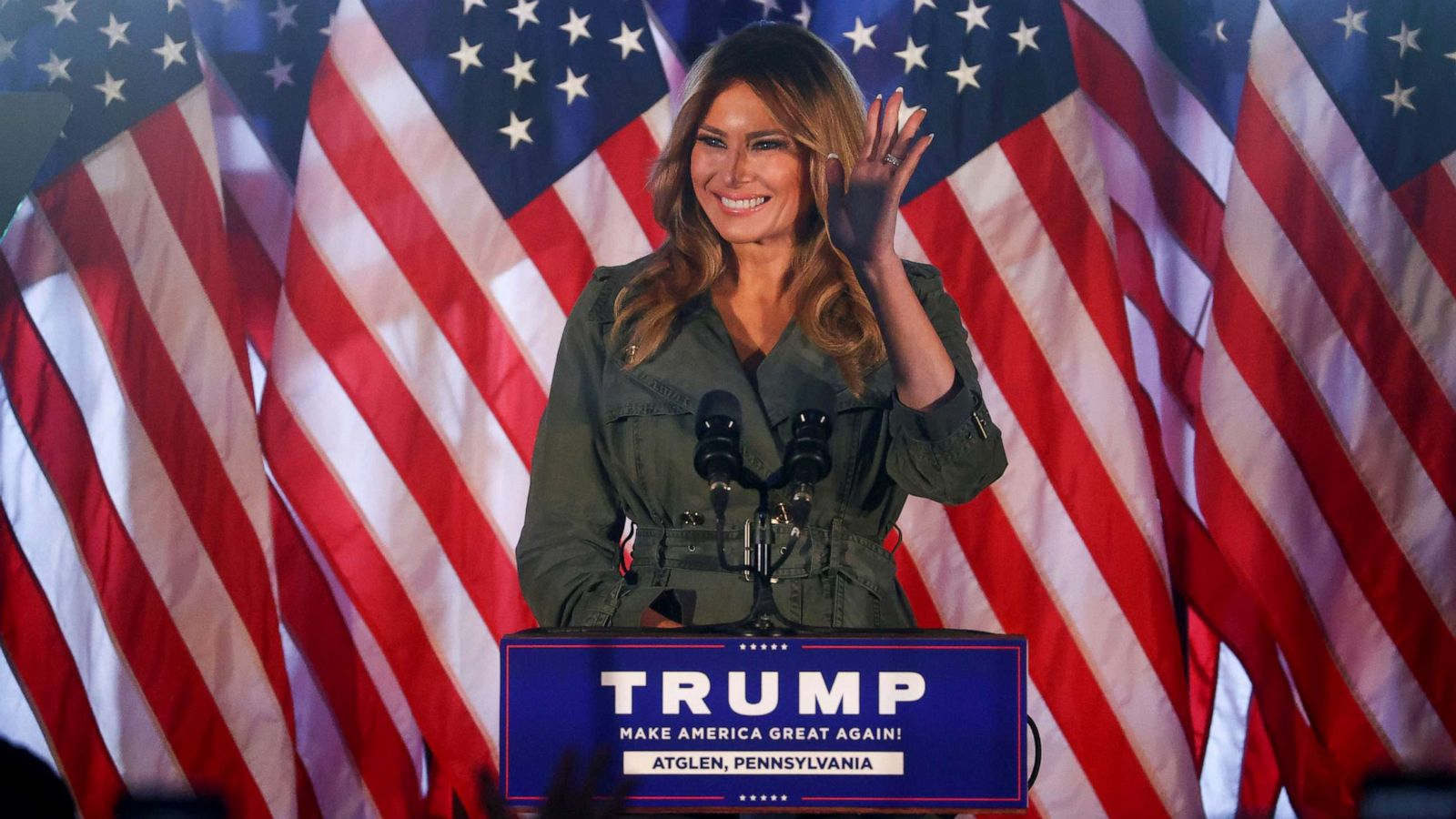 Election 2020: Melania Trump delivers pointed political attack on trail