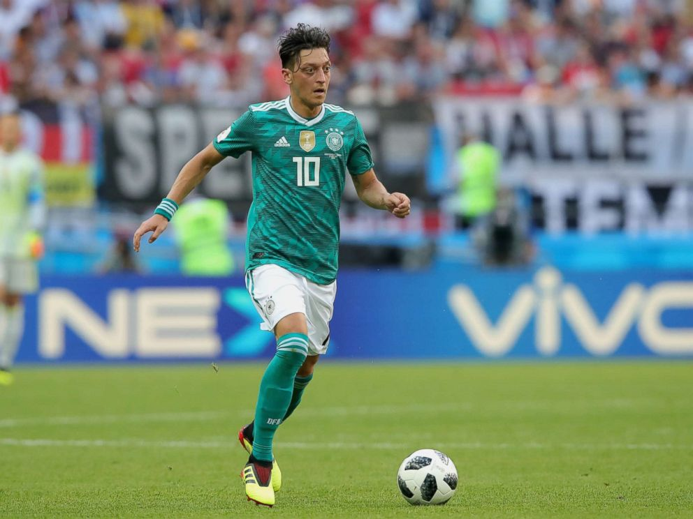 PHOTO: Mesut Oezil of Germany runs with the ball during the 2018 FIFA World Cup Russia group F match between Korea Republic and Germany at Kazan Arena, June 27, 2018, in Kazan, Russia.