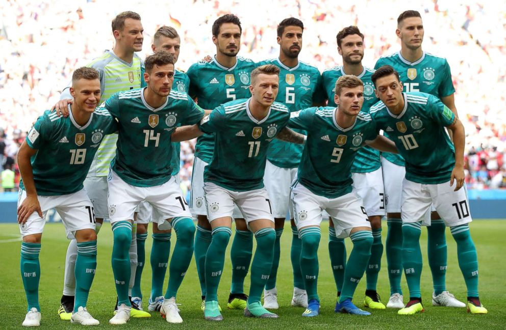 PHOTO: The German team pose for a photo prior to the 2018 FIFA World Cup Russia group F match between Korea Republic and Germany at Kazan Arena, June 27, 2018, in Kazan, Russia.