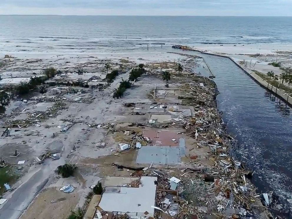 PHOTO: Damage from Hurricane Michael is seen in Mexico Beach, Fla. on Oct. 11, 2018.