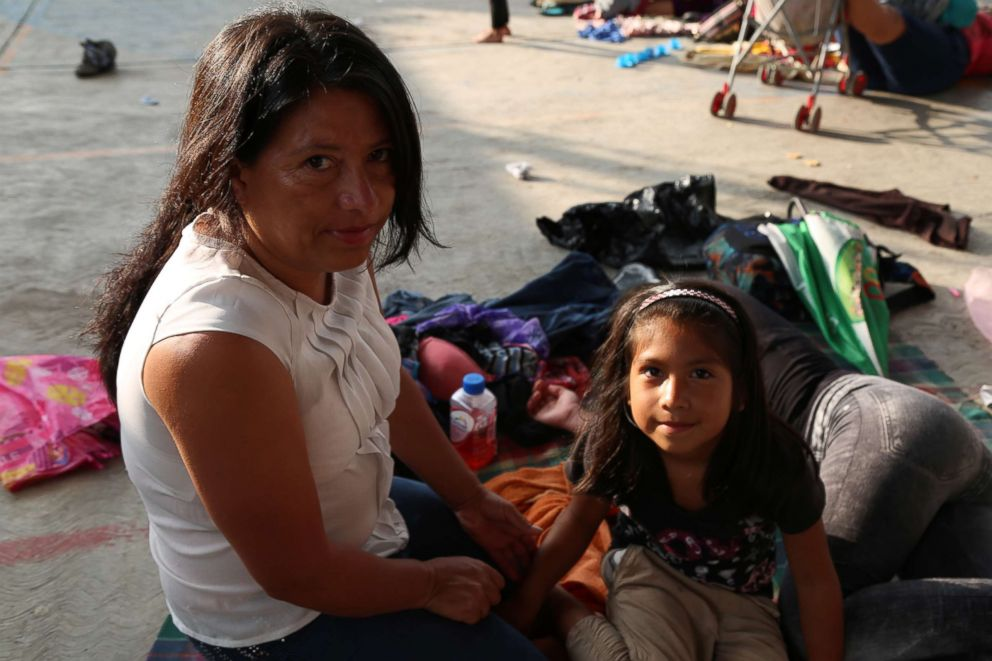 PHOTO: Berta Alicia Benitez, 38, is from Honduras and is traveling alone with her 14-year-old and 8-year-old daughters.