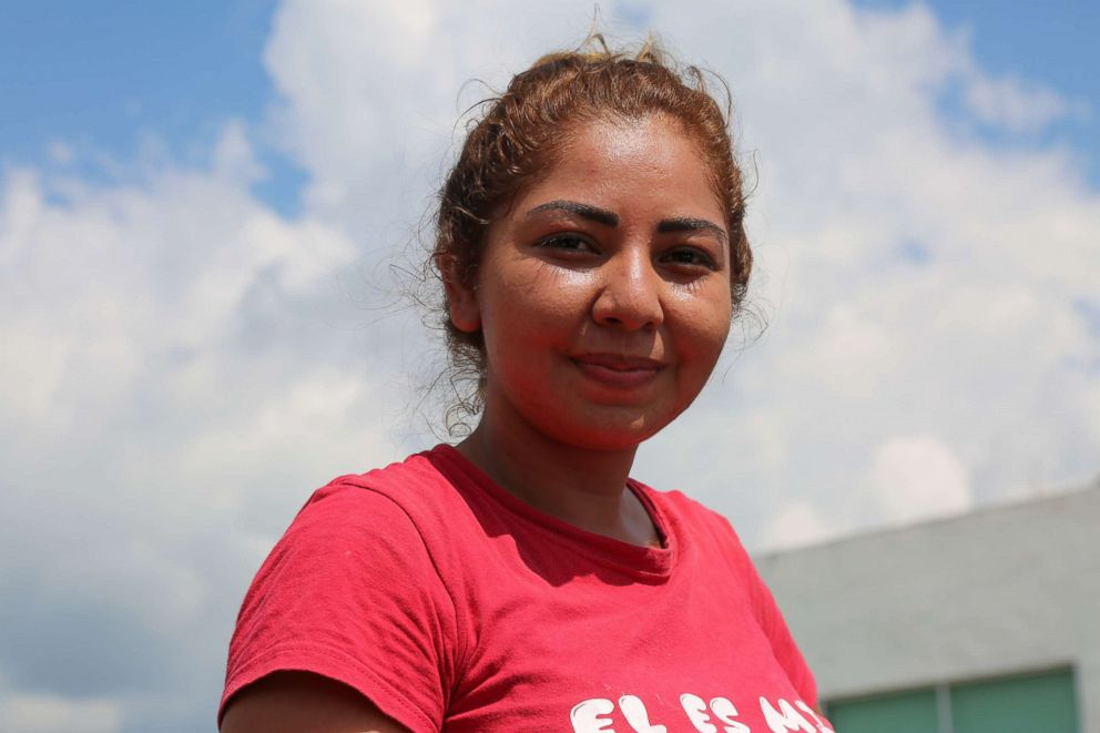 PHOTO: Dania Manzo, 24, owns a tortilla store in Mexico and said she banded together with other residents to donate clothing for the migrants in the caravan.