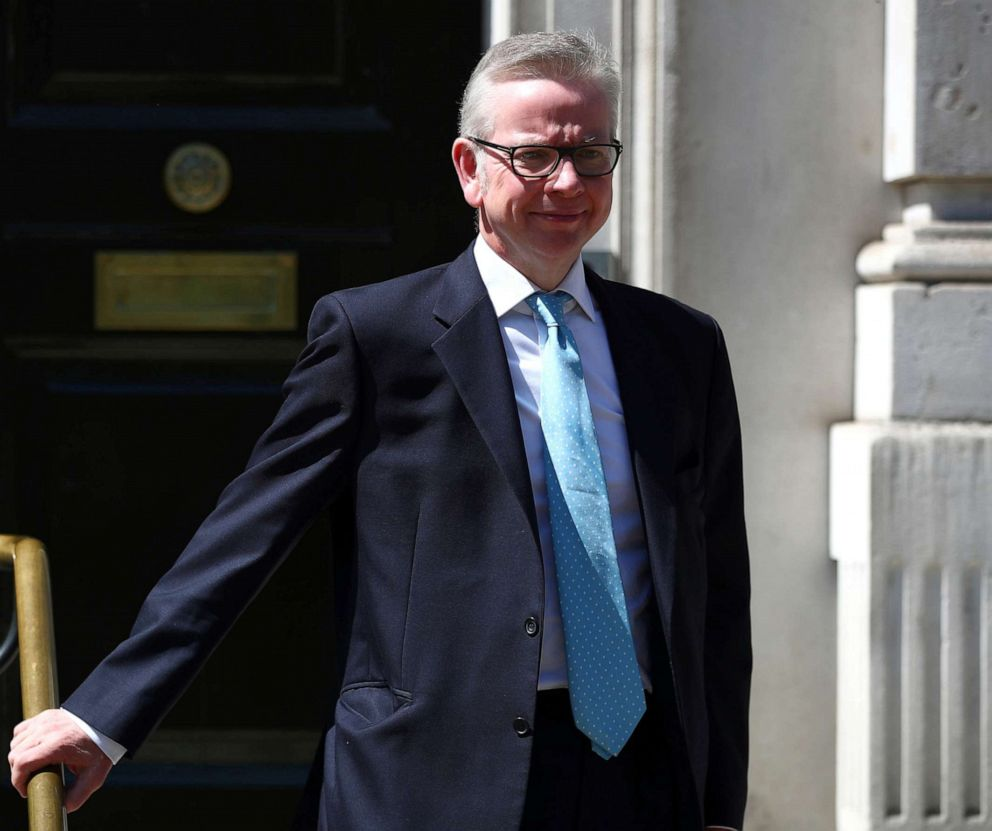 PHOTO: Britains Secretary of State for Environment, Food and Rural Affairs Michael Gove is seen outside the Cabinet Office in London, May 14, 2019.