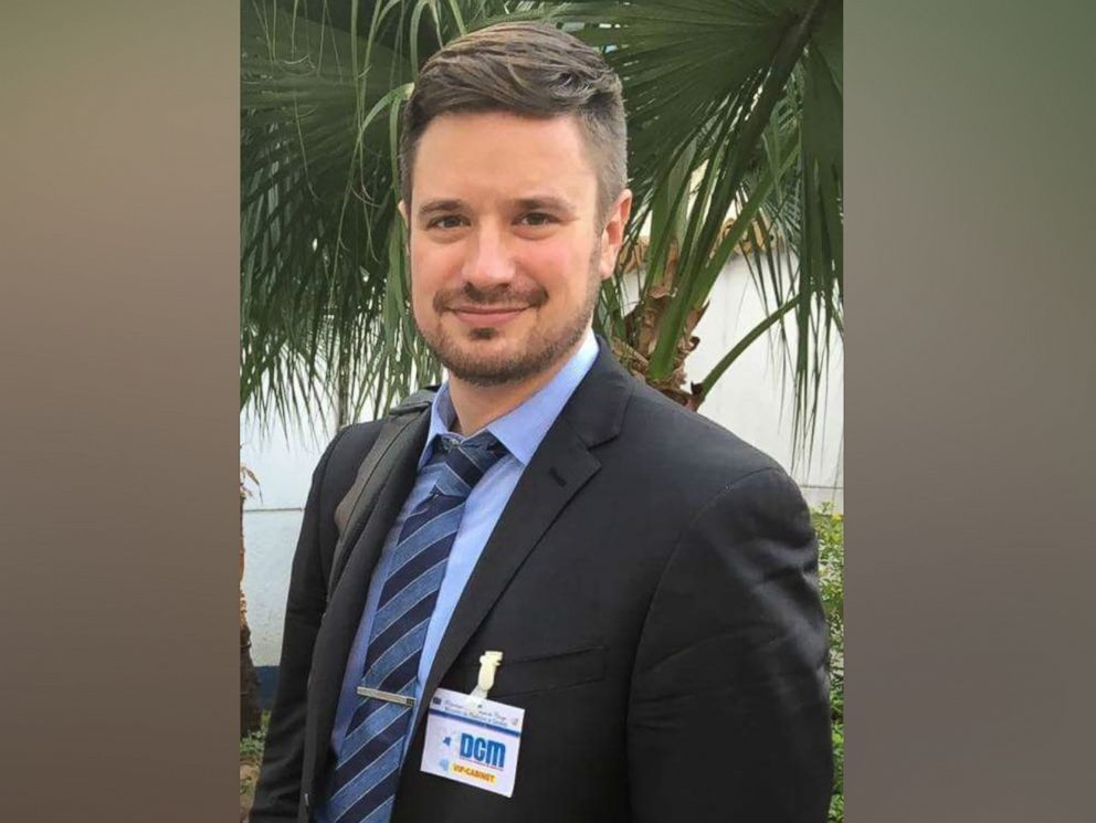 PHOTO: UN expert Michael Sharp, who was killed in the Democratic Republic of the Congo in March 2017 is seen here in this undated file photo.