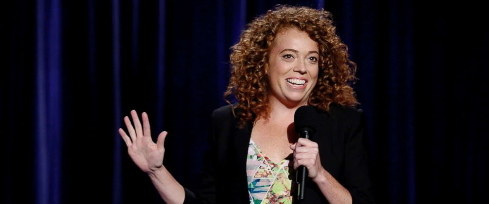"""PHOTO: Michelle Wolf performs on July 10, 2014, on """"Late Night With Seth Meyers."""""""