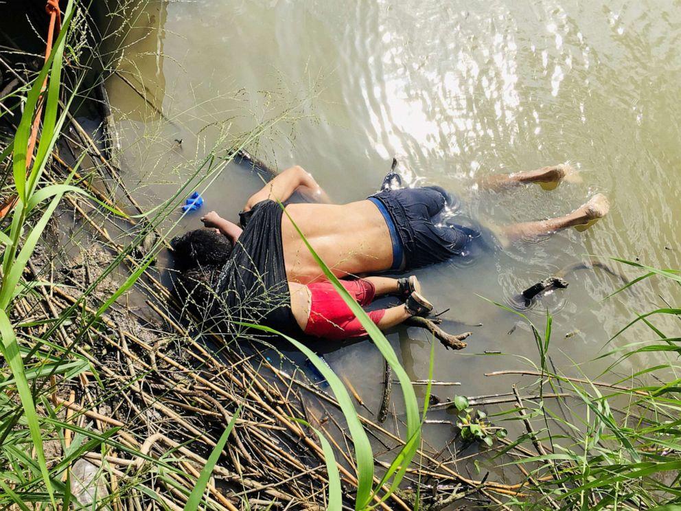 PHOTO:The bodies of Salvadoran migrant Oscar Alberto Martinez Ramirez and his daughter Valeria lie in the Rio Bravo river in Matamoros, Mexico June 24, 2019.
