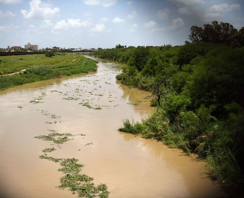 PHOTO: The Rio Grande, near the location where the bodies of Salvadoran migrant Oscar Alberto Martinez Ramirez and his daughter Valeria were found after they drowned in Matamoros, Mexico, June 26, 2019.