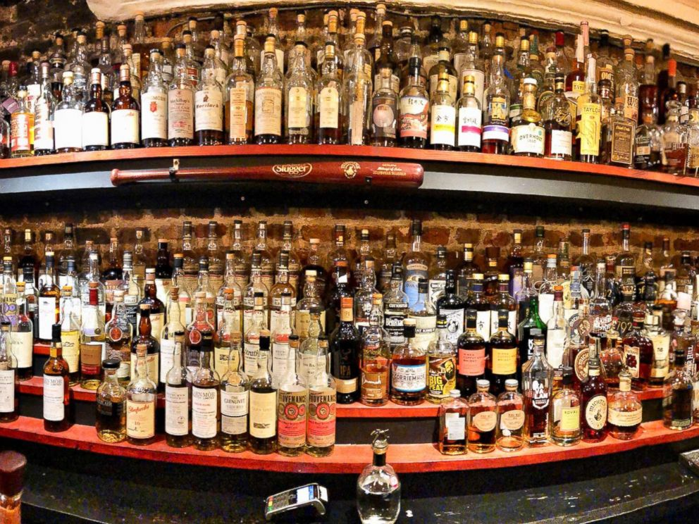 PHOTO: The owner of Milroys of Soho, a whiskey store in London, expected Kentucky bourbon prices to jump after European Union tariffs came into effect, June 22, 2018.  Whiskey, Harley prices expected to jump in Europe as tariffs take effect milroys whiskey london abc thg 180622 hpMain 4x3 992