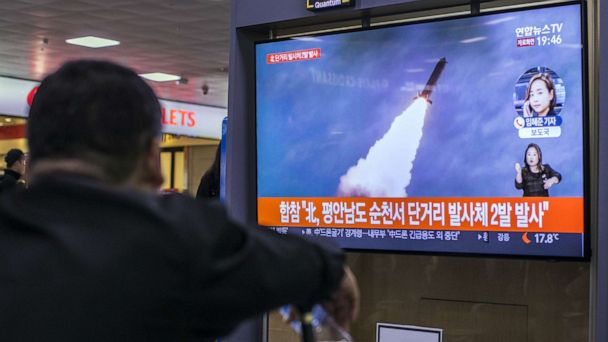 North Korea test fires missiles for the twelfth time in same year
