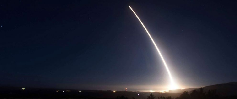 PHOTO: An unarmed Minuteman III intercontinental ballistic missile launches during an operational test, Feb. 20, 2016 at Vandenberg Air Force Base, Calif.