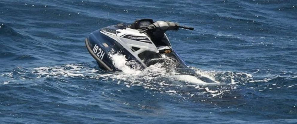PHOTO: The French Navy alerted the Barbados Coast Guard on Saturday, July 7, 2019, they had located the jet ski used by two Americans when they went missing last month.