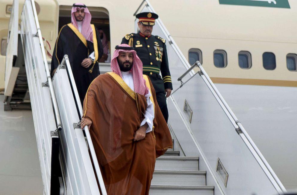 PHOTO: Saudi Arabias Crown Prince Mohammed bin Salman arrives at Ministro Pistarini in Buenos Aires, Nov. 28, 2018.