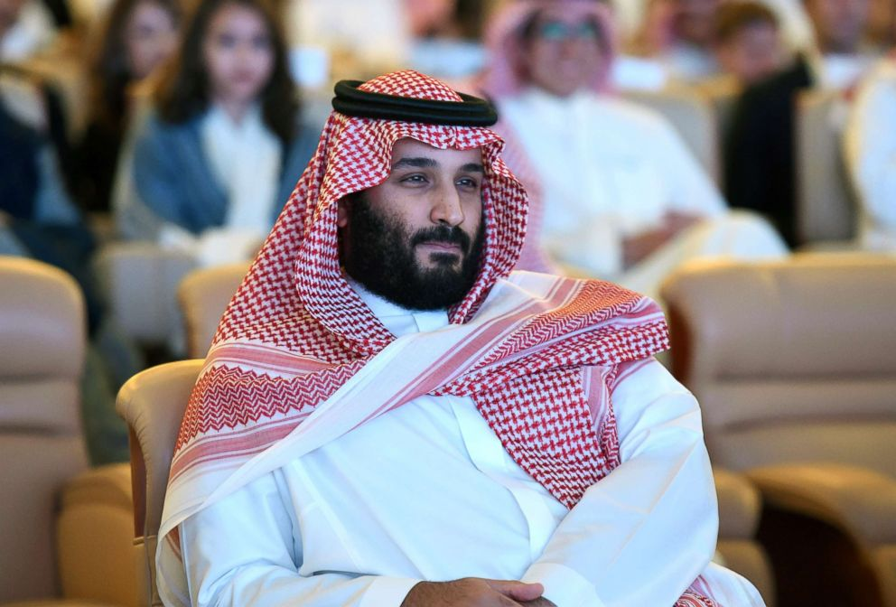 Saudi Crown Prince Mohammed bin Salman attends a conference in Riyadh, on Oct. 24, 2017.