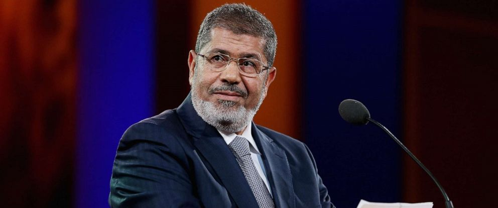 PHOTO: Ousted Egyptian President Mohammed Morsi speaks at the Clinton Global Initiative meeting on Sept. 25, 2012 in New York City.
