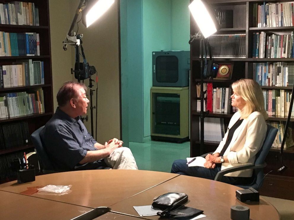 PHOTO: ABCs Martha Raddatz interviews South Korean presidential adviser and ambassador-at-large Moon Chung-in about the Trump administrations response to the North Korean crisis.