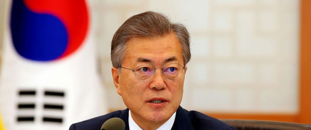 PHOTO: South Korean President Moon Jae-in speaks during a Cabinet meeting at the presidential office Cheong Wa Dae in Seoul, South Korea, March 20, 2018.