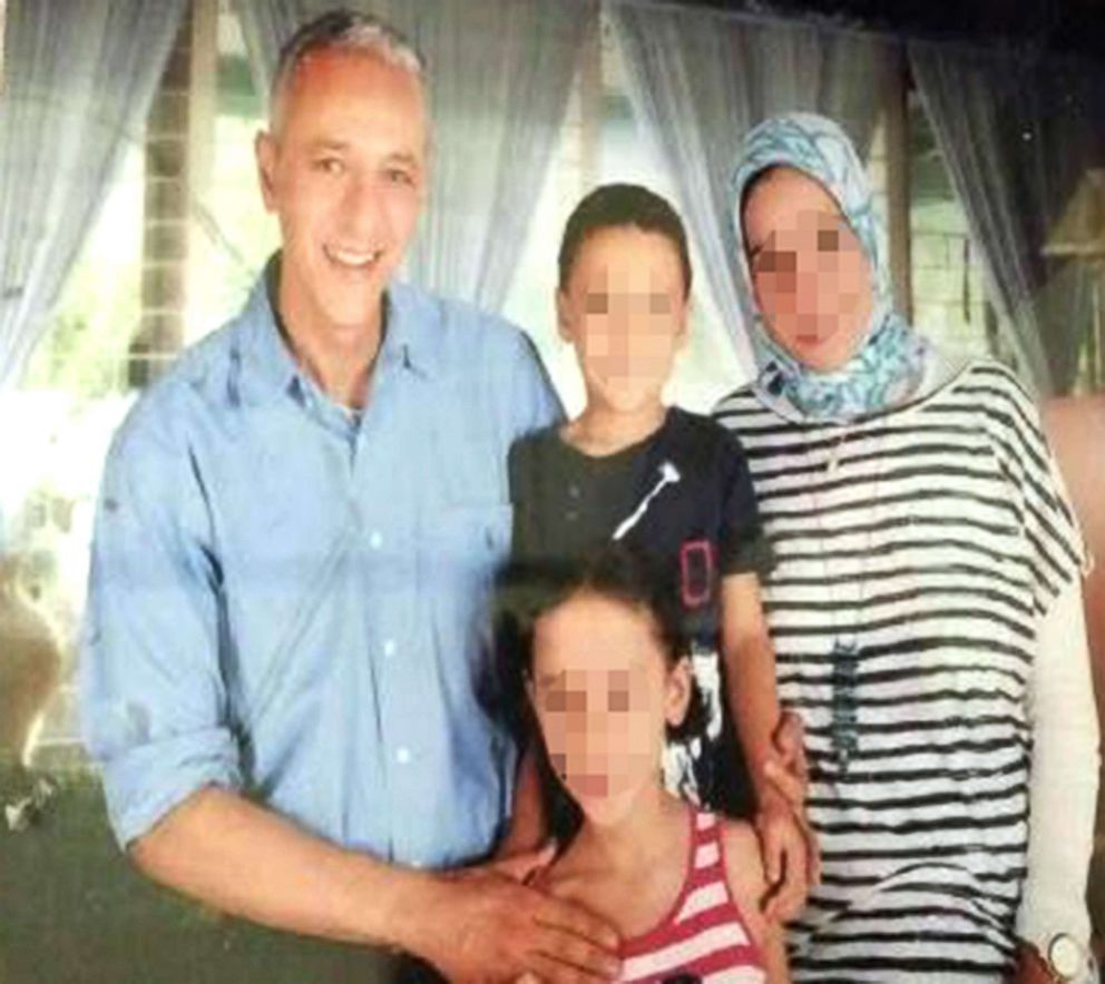 PHOTO: Moustafa Kassem is pictured in this undated photo with his wife and their two children.
