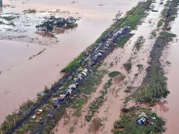 Rescuers race to save thousands from 'critical situation' in Mozambique after cyclone