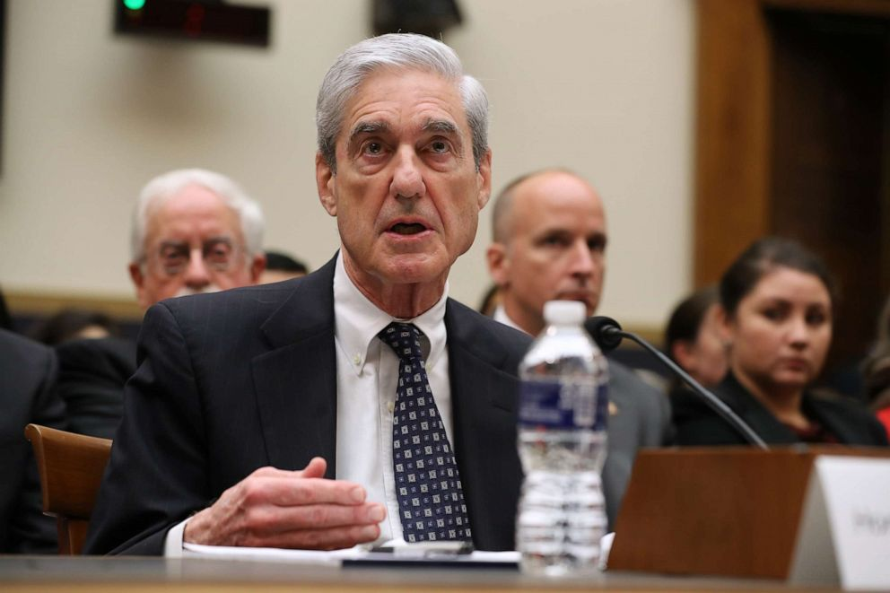 PHOTO: Former Special Counsel Robert Mueller testifies before the House Judiciary Committee about his report on Russian interference in the 2016 presidential election in the Rayburn House Office Building July 24, 2019 in Washington.