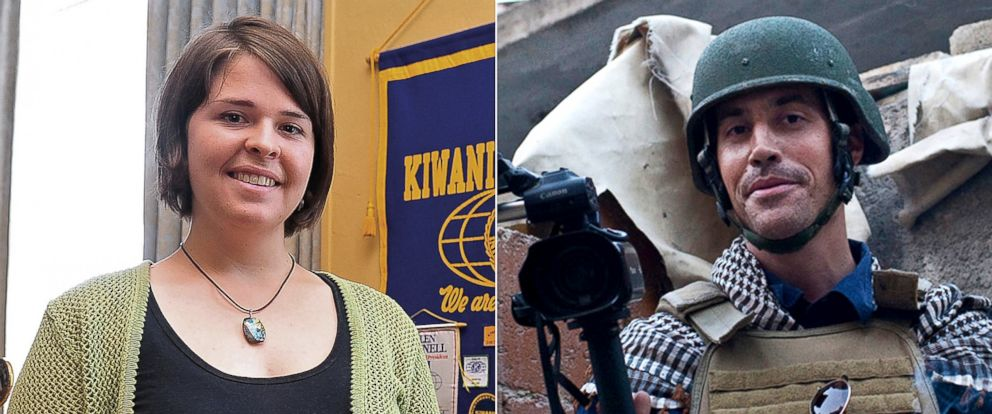 PHOTO: Kayla Mueller, left and James Foley, right, two Americans executed by ISIS.