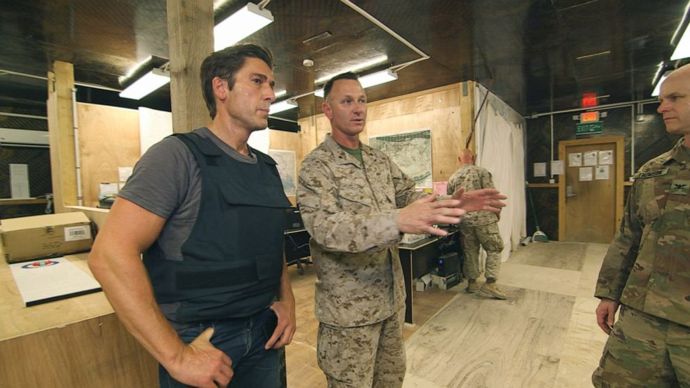PHOTO: World News Tonight anchor David Muir went deep into Iraq on the Syrian border to speak with U.S. troops who are fighting ISIS, which is desperately working on a resurgence.
