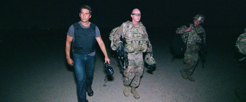 """PHOTO: """"World News Tonight"""" anchor David Muir went deep into Iraq on the Syrian border to speak with U.S. troops who are fighting ISIS, which is desperately working on a resurgence."""