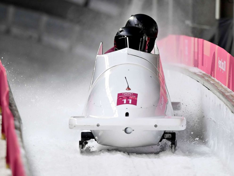PHOTO: Nadezhda Sergeeva (front) and Anastasia Kocherzhova of the Olympic Athlete from Russia in action during the Womens Bobsleigh Heats at the Olympic Sliding Centre during the PyeongChang 2018 Olympic Games, South Korea, Feb. 21, 2018.