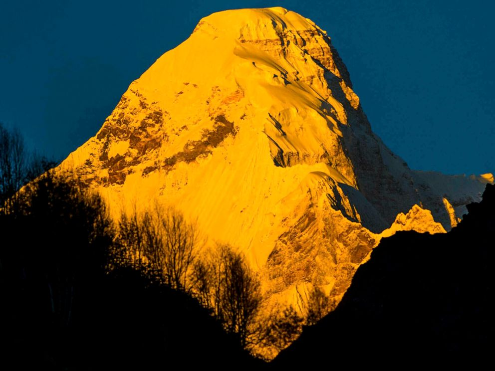 PHOTO: In this Oct. 8, 2016 Nanda Devi east base peak is seen from Pachu valley in Uttarakhand, India.
