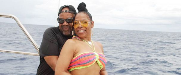PHOTO: A photograph posted on Facebook on May 28, 2019, shows Americans Nathaniel Edward Holmes and Cynthia Ann Day on vacation in the Dominican Republic, before they were found dead at a hotel there in late May 2019.