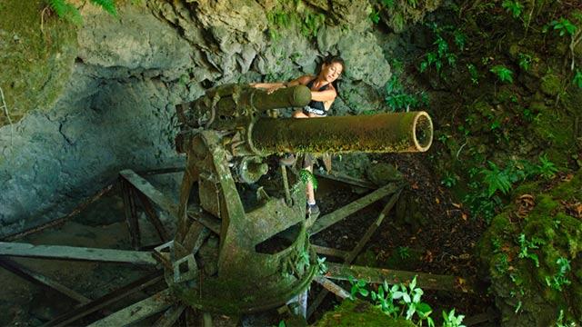 PHOTO: WW 2 Japanese artillery on Peleliu