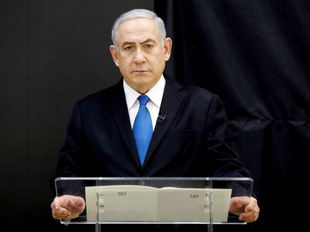 PHOTO: Israeli Prime minister Benjamin Netanyahu speaks during a news conference at the Ministry of Defence in Tel Aviv, Israel, April 30, 2018.
