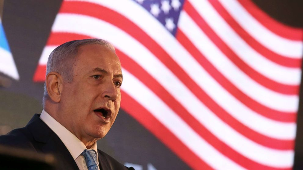 Israeli Prime Minister Benjamin Netanyahu attends the official reception of the opening of the US Embassy at the Ministry of Foreign Affairs in Jerusalem, May 13, 2018.