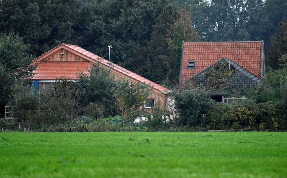 PHOTO: A view of the farm where a family was found living in Ruinerwold, Netherlands.