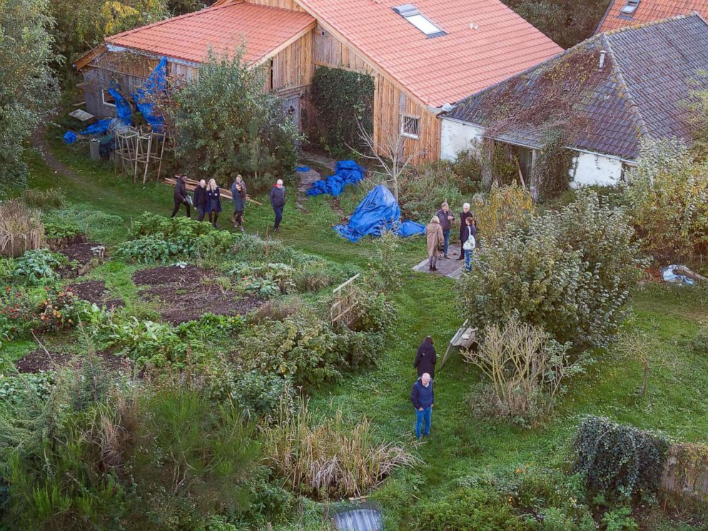 PHOTO: This drone image shows Dutch judges visiting the farmhouse in Ruinerwold, the Netherlands, where a family was allegedly held captive for nearly a decade, Oct. 30, 2019.