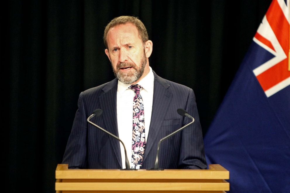 PHOTO: New Zealands Justice Minister Andrew Little announces plans to liberalize abortion laws on Monday, Aug. 5, 2019, in Wellington, New Zealand.