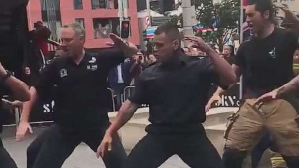 New Zealand firefighters perform haka in powerful tribute to 9/11 first responders