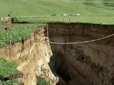 Massive New Zealand sinkhole