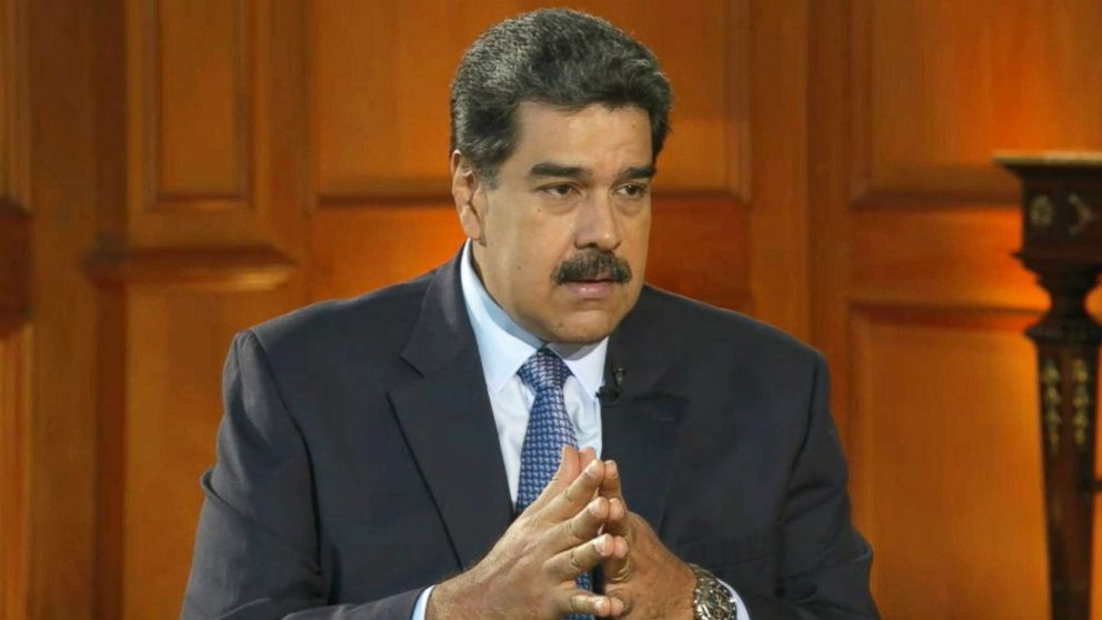 Nicolas Maduro is pictured during an interview with ABC News on Feb. 25, 2019, in this image made from video.