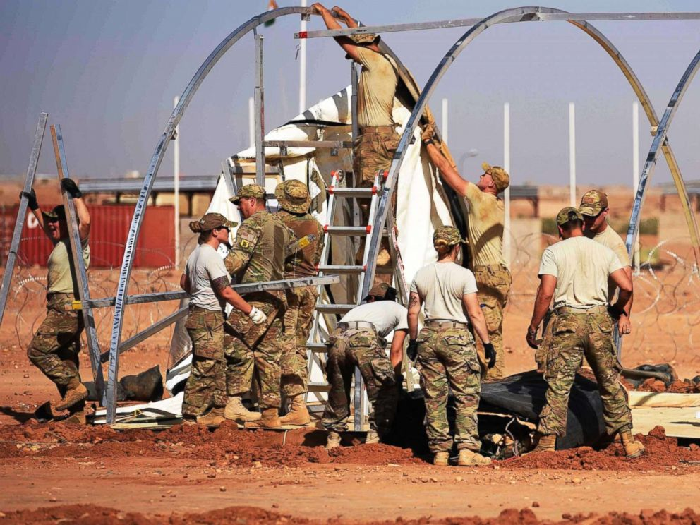 PHOTO: Airmen from the 724th Expeditionary Air Base Squadron take down tents from the old base to move to a new location, Sept. 11, 2017, at Air Base 201, in Agadez, Niger.