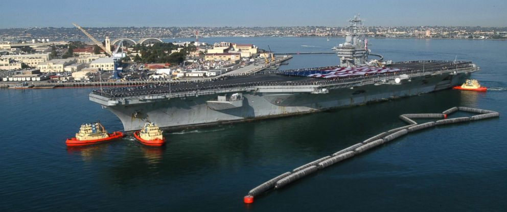 PHOTO: The USS Nimitz arrives in her homeport, Nov. 5, 2003, at Naval Air Station North Island, Coronado, Calif.