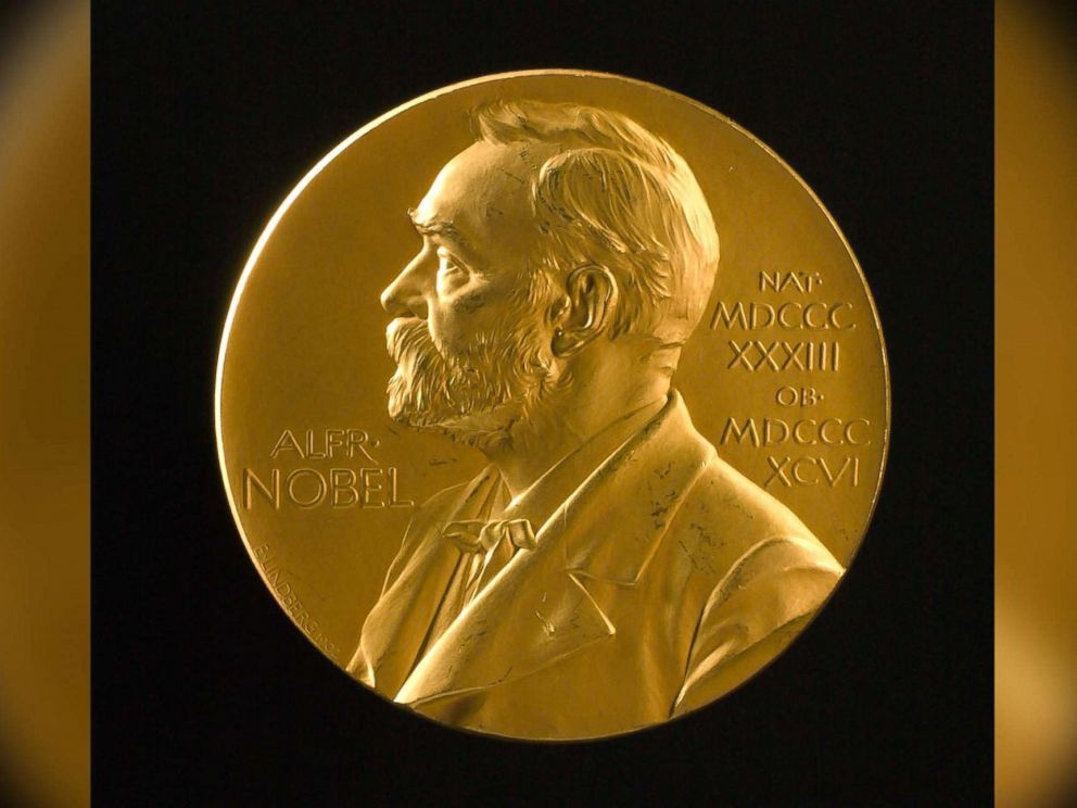 PHOTO: Johannes V. Jensens Nobel Prize winner medal from 1944 is seen here in this file photo, Nov. 11, 2003.