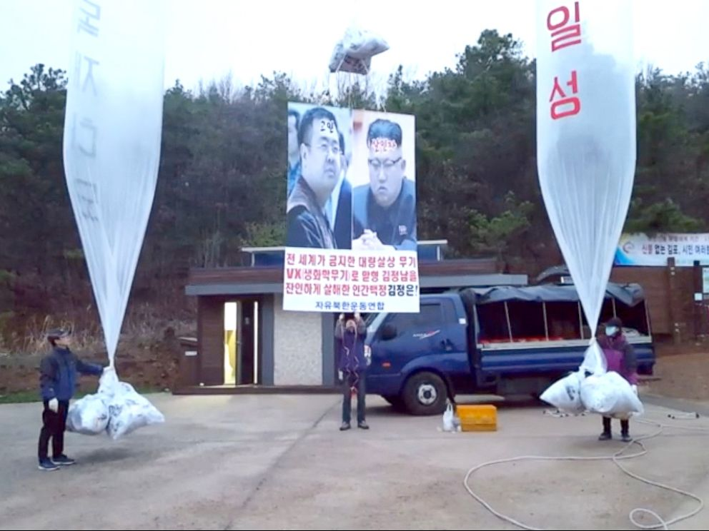 PHOTO: Sang Hak Park sends balloons carrying anti-regime messages annually across the border.