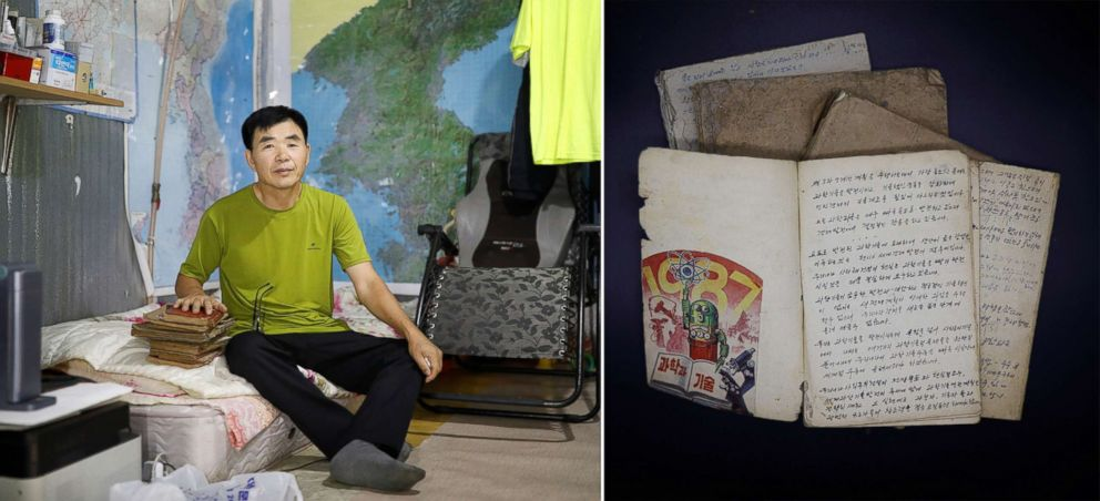 PHOTO: Lee Min-bok, 60, poses for a photograph in Seoul, South Korea, Sept. 14, 2017. He left North Korea in 1991 and came to South Korea in 1995. His family sent him these diaries.